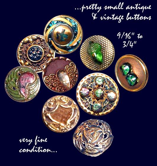Image Copyright by RC Larner ~ Assorted Antique & Collectible Buttons ~ R C Larner Buttons at eBay  http://stores.ebay.com/RC-LARNER-BUTTONS