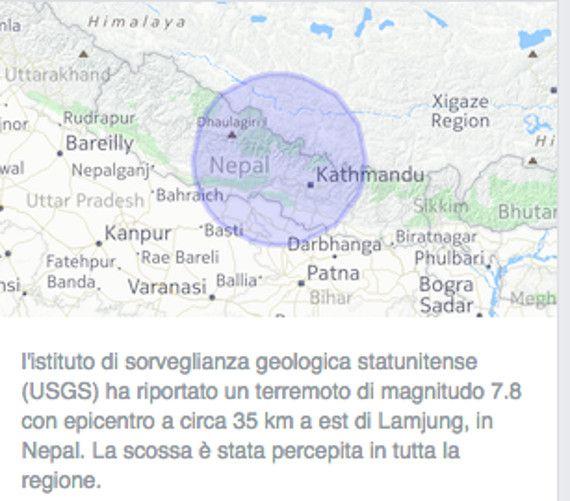 Facebook, Google e l'emergenza terremoto in Nepal