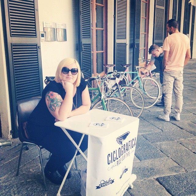 Una Cavenago vintage con le bici #Ciclografica #retro #vintage #type #graphic #bici #bike