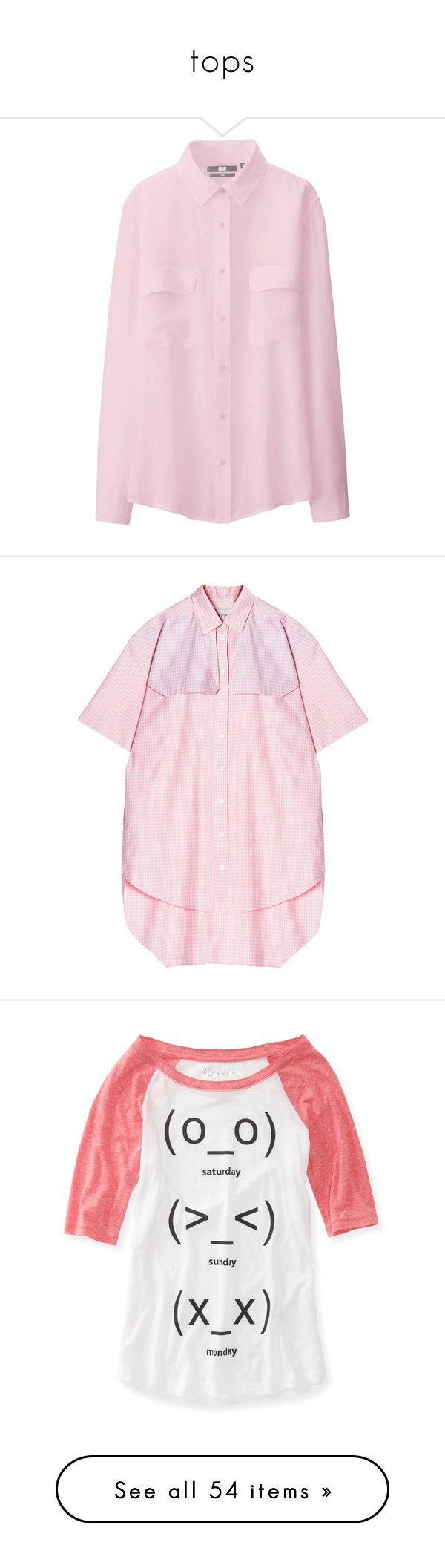 """""""tops"""" by totoro-2342 ❤ liked on Polyvore featuring tops, blouses, shirts, pink, long sleeve silk blouse, long sleeve shirts, safari shirt, silk blouses, holiday blouses and dresses"""
