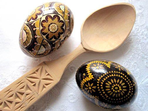 Romanian eggs & spoon