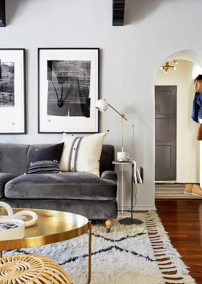 6 Paint Colors That Make A Room Look Bigger Masculine Living Rooms Grey Walls Living Room Living Room Grey
