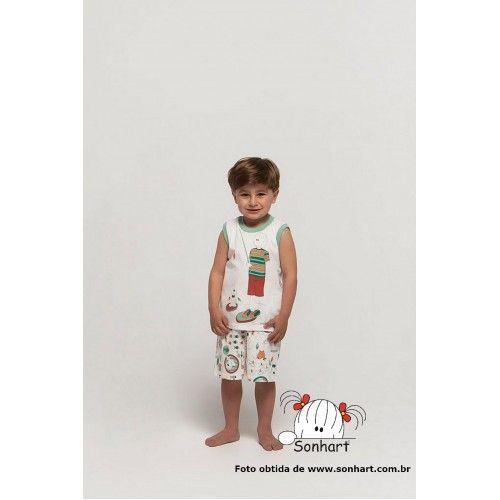 Regata Machão e Short  https://malhamagia.com.br/loja/sonhart-4202127             #festadopijama #pijamaparty #pijama #menino