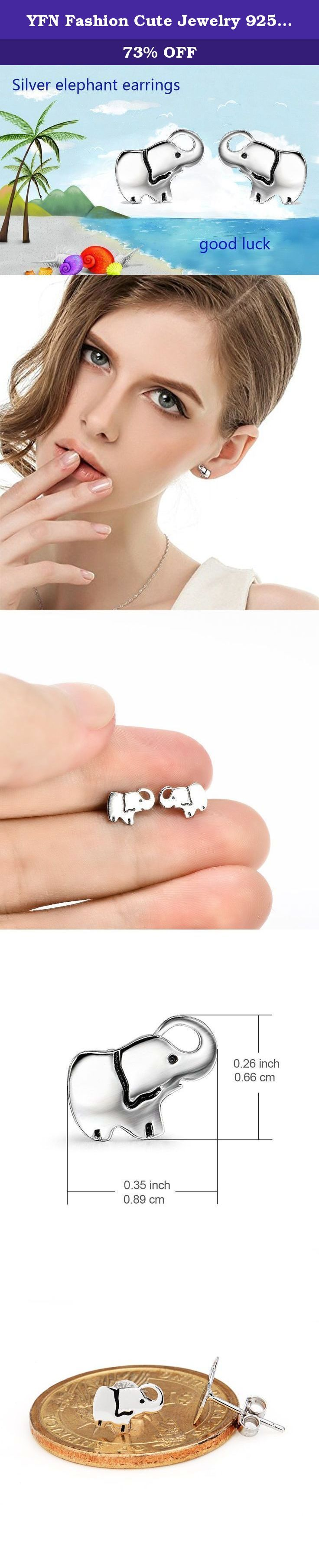 YFN Fashion Cute Jewelry 925 Sterling Silver Good Lucky Mini Elephant Stud Earrings for Women Girls (elephant). Come with a lovely gift box,you may sent it to your special one,small cute elephant stud earrings is a best gift to your girlfriend,wife,lover,in christmas,birthday,graduation,all festival YAFEINI : A famous jewelry brand Four jewelry chain stores in Hongkong,Shenzhen,Yiwu,Guangzhou. High Quality jewelry and low price. Best service and 24 hours response,100% satisfied Factual...