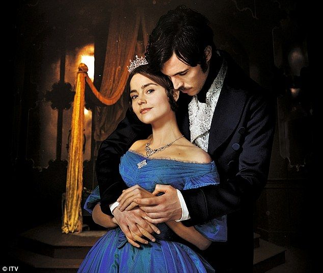 Jenna Goldman, playing Queen Victoria, and Tom Hughes playing Prince Albert in ITV's Victoria
