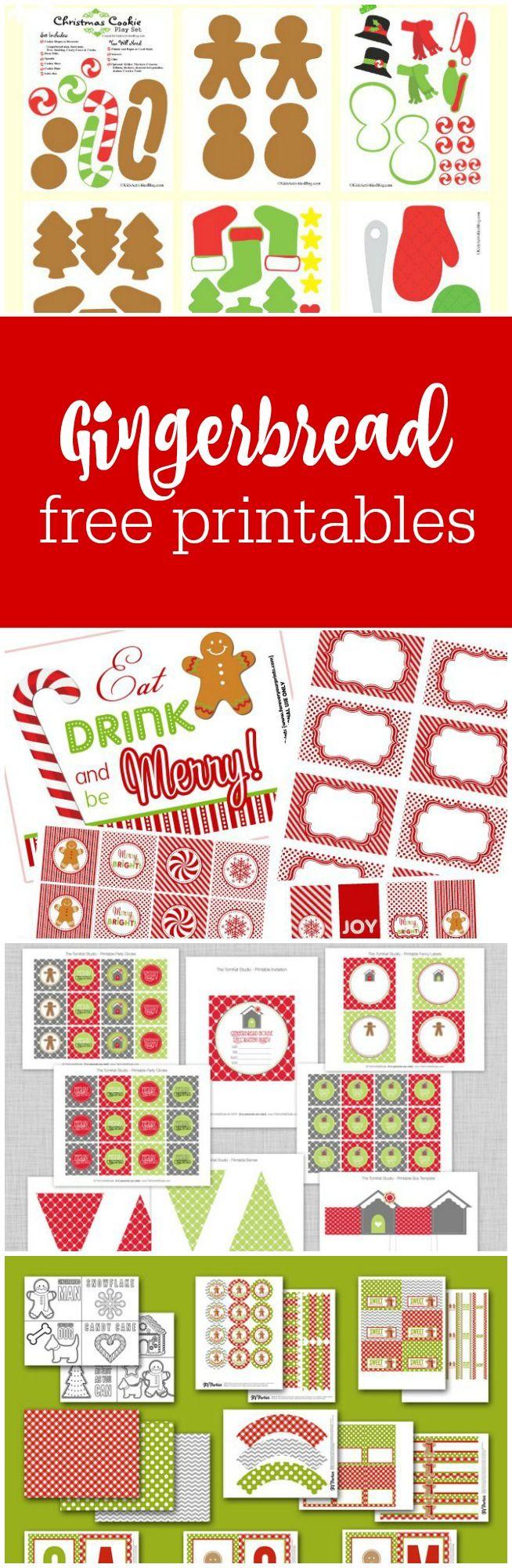 Gingerbread house free printables - Freebie Friday Gingerbread Party Printables