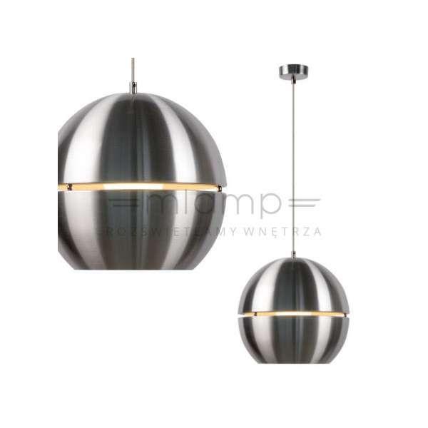 LAMPA wisząca VOLO 17452/30/12 Lucide metalowa OPRAWA zwis kula ball satyna