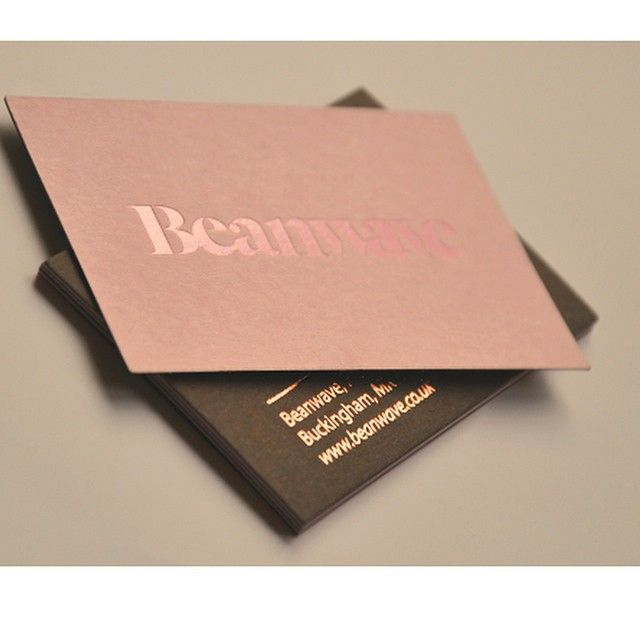 Business card used with Foilco 251 Pearl on #Colourplan Candy Pink. Foilco 6037 on the reverse. Looks amazing!!! Image sent off #Beanwave #foilco #hotfoil #pink #businesscard #metallic #design #luxury #love