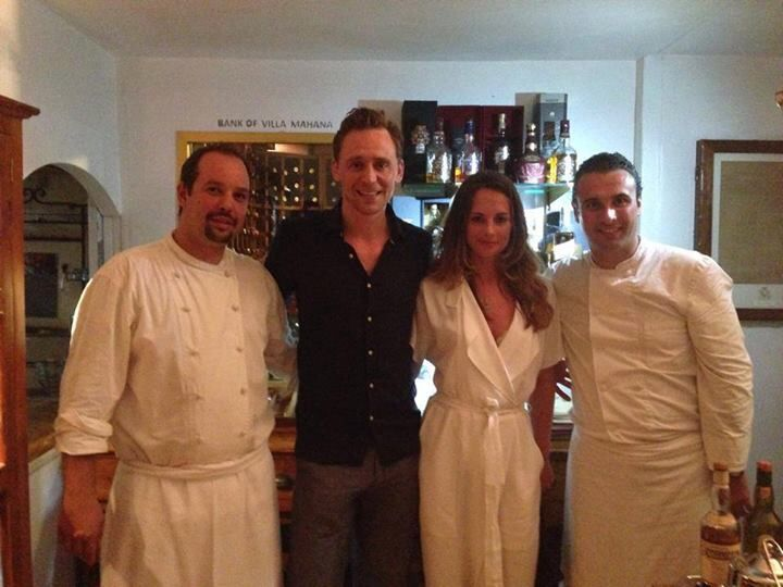 Tom Hiddleston in Tahiti with Jane Arthy