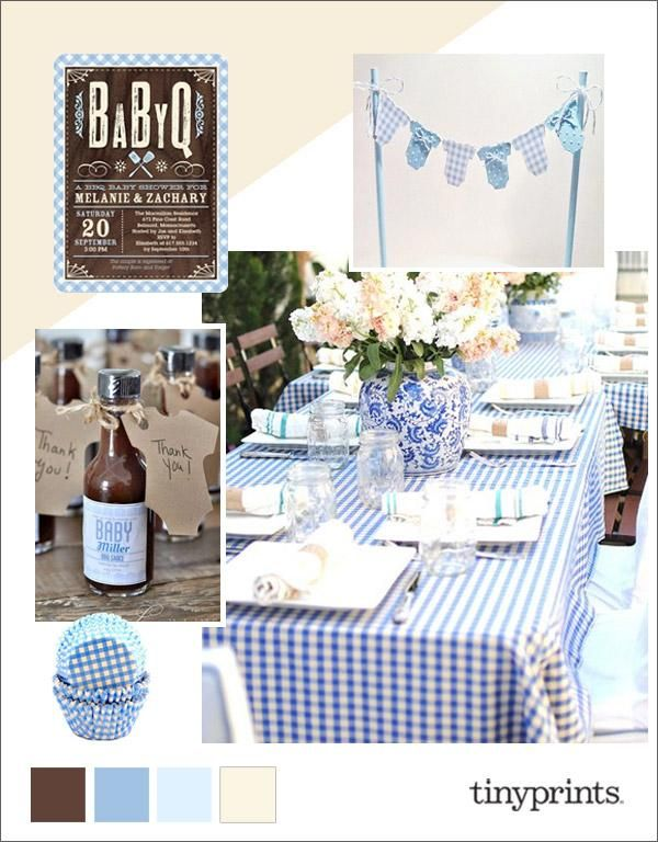 Hosting a co-ed baby shower is a fun alternative to the traditional baby shower where the parents-to-be can share the celebration with all of their family and friends. Keep the day easy by hosting a simple backyard barbecue and invite all your family and friends.