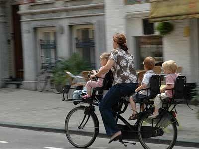 Biking in Amsterdam ,Netherlands Bike Land