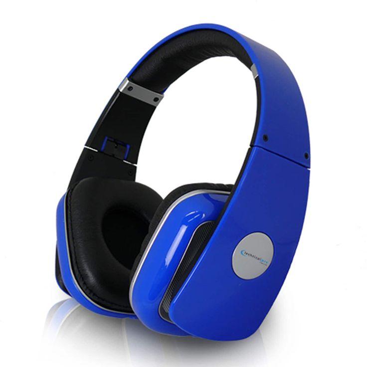 Technical Pro Adjustable Hheadband Professional Headphones- Blue #HP630U