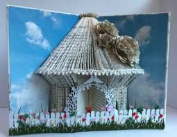 folding book fairy house - Google Search