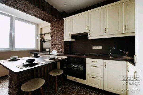 Кухня с балконом, без перепланировки