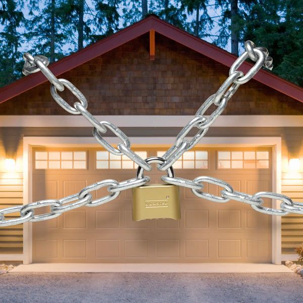Garage doors are traditionally weak links in garage security, giving thieves easy access to your home. Use these tips to burglar-proof your garage door.