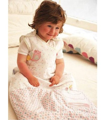Buy your Grobag 2.5 Tog Sleeping Bag Songbird 6-18 Months reviews from Kiddicare Clearance Lines| Online baby shop | Nursery Equipment