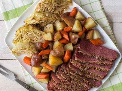 Roasted Corned Beef & Cabbage