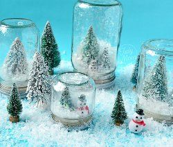 Twinkly Waterless Snow Globe | Now don't tell me you thinkd these can be only crafted for Xmas. Use your special figurine, b-day candles, anything FUN AllFreeChristmasCrafts.com