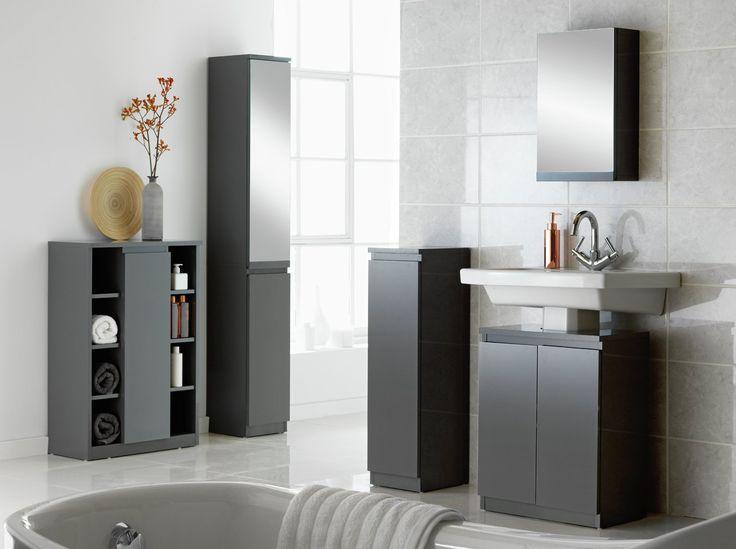 Buy Argos Home Gloss Console Storage Cabinet - Grey ...