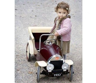 Tråbil med pedaler, Country Brun
