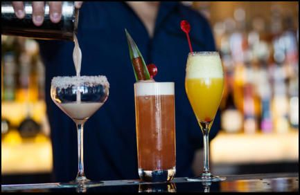 Hire cocktail glasses in Glasgow www.hireabarman.com
