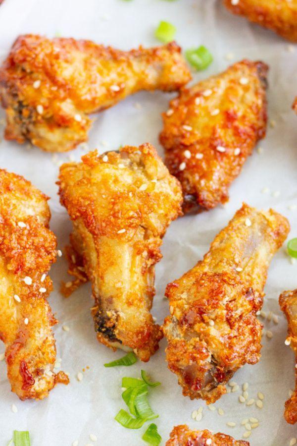 Korean Air Fried Chicken Wings Recipe Fried Chicken Wings Air Fry Chicken Wings Chicken Wing Recipes