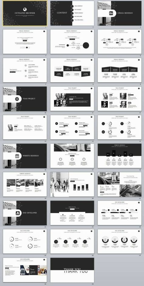29 Black Infographic Business Powerpoint Template Aesthetics