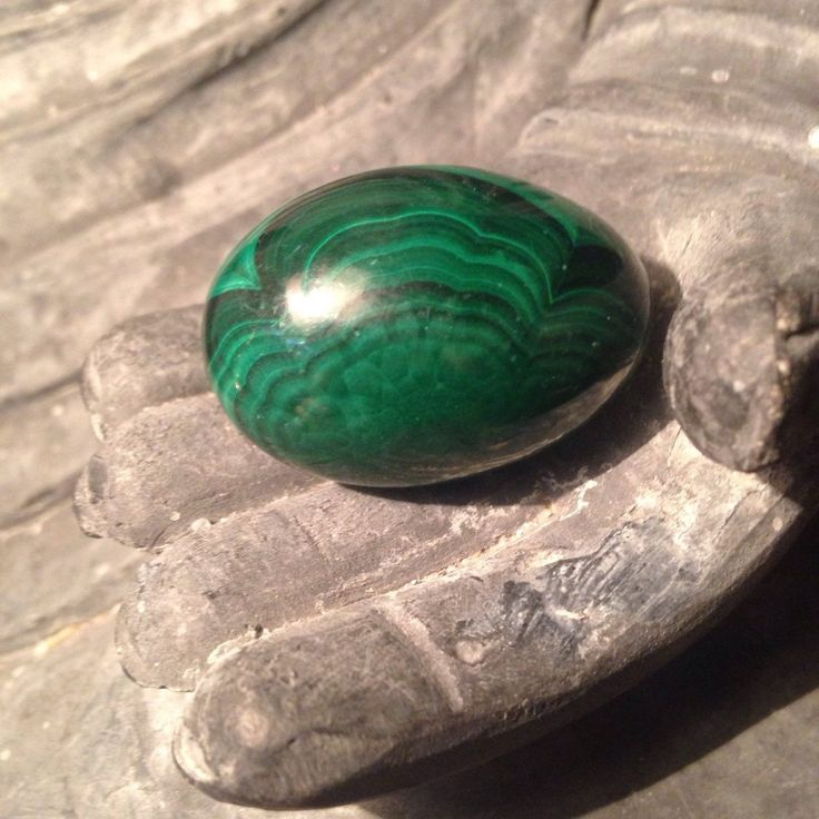Malachite Tumbled Oval by JessikaDavisEMS on Etsy