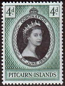 Pitcairn Islands Elizabeth II 1953 Coronation Fine Mint SG 17 Scott 19 Postage Stamps for Sale $ 2.55
