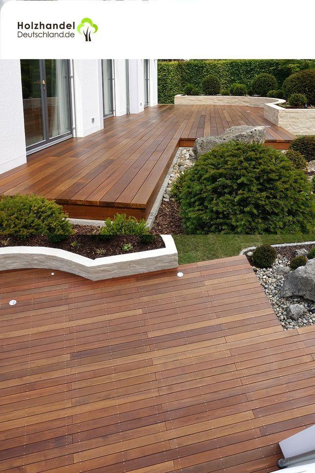 Ipe Terrassendielen Mit Glatter Oberflache In 2020 Terrassendielen Holzterrasse Terrasse