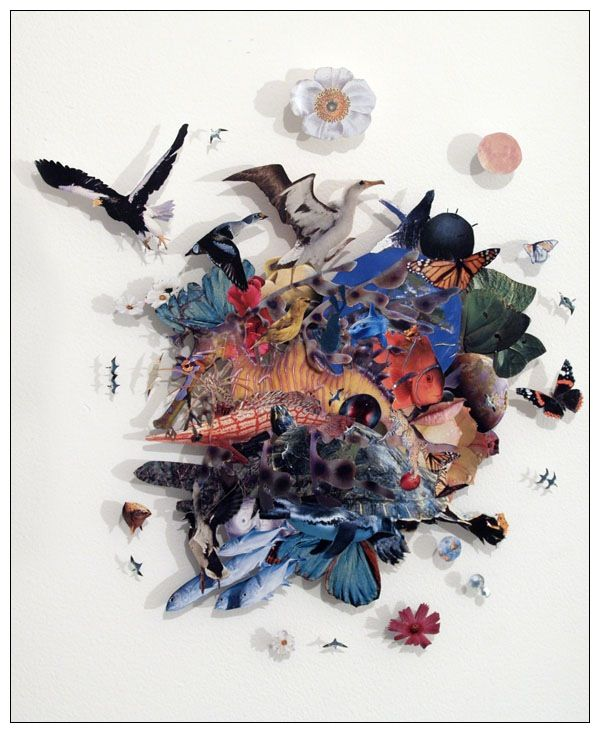 """Collage by Peter Madden -""""The World Uncontained"""" 2007"""