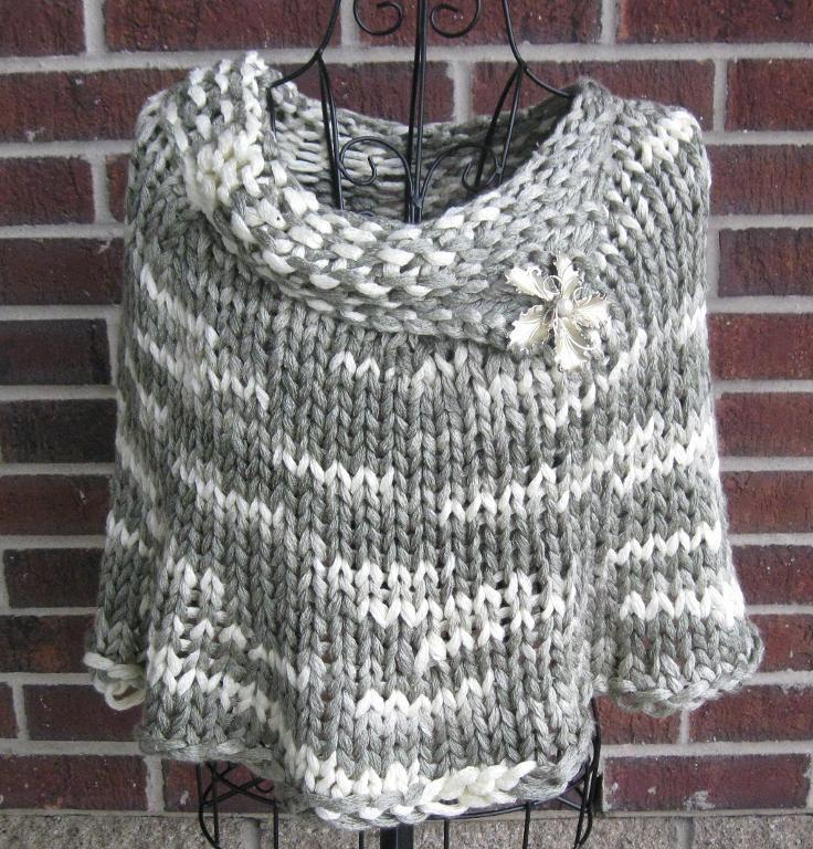 Free Crochet Poncho Patterns Bulky Yarn C B Z G Scrap Happy