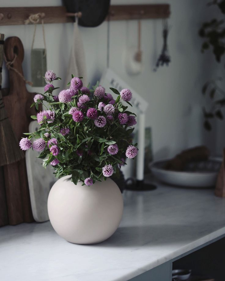 the flowers and vase