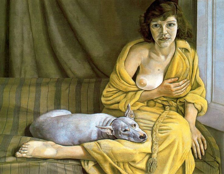 Lucian Freud, Girl with a white dog, 1952