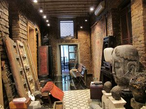 doors from India, Buddha figure from China, & African Masks..spectacular