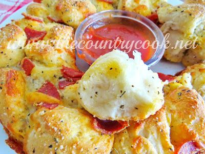 Pull-Apart Pizza Bread (uses canned biscuits!)
