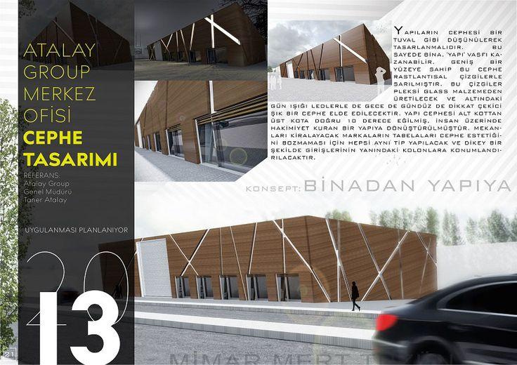 Atalay Group Merkez Ofisi cephe Tasarımı - Batman İç tasarım, mimarlık, tzn mimarlık, interior, exterior, facade, design, architecture