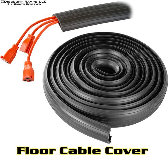 Floor Cable Cover - Fits up to 3 cables to prevent damage and minimize trip hazards