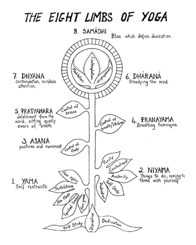 8 Limbs Of Yoga Diagram
