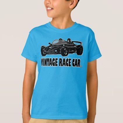#Vintage Race Car Designer Kid Clothing T-Shirt - #giftideas for #kids #babies #children #gifts #giftidea