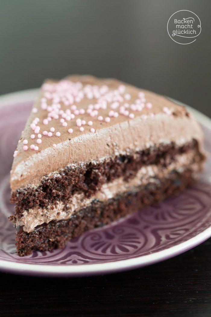 Schokoladen Buttercreme Torte Rezept Buttercreme Torte Schokoladen Buttercreme Buttercreme
