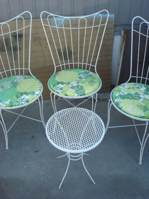 VINTAGE PATIO FURNITURE | Vintage Patio Furniture Lawn Outdoor Set By  Vwcruza On Etsy