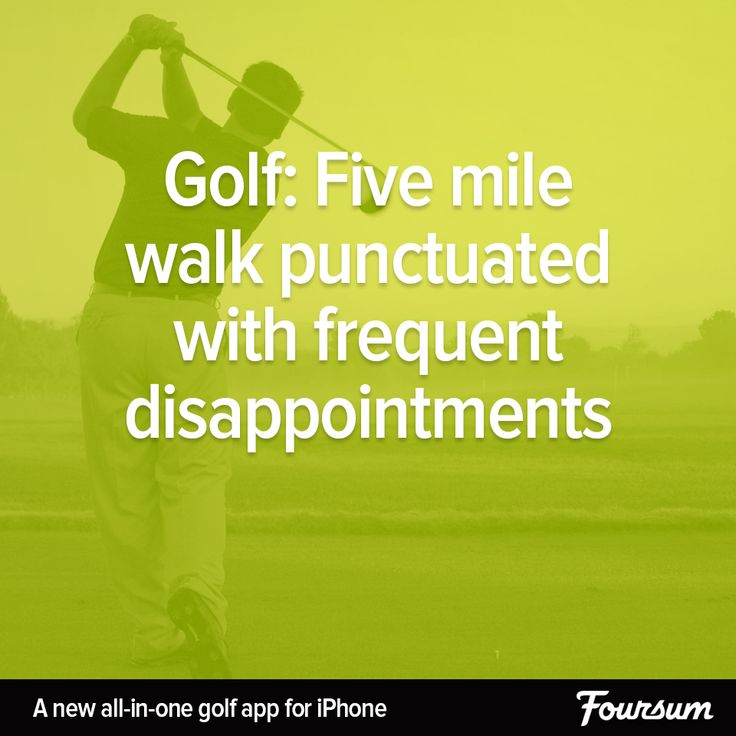 Golf: Five mile walk punctuated with frequent disappointments.   #golf #funny