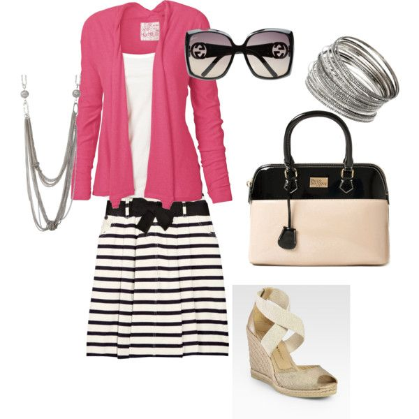 HmmStripes Skirts, Pink Cardigans Black Wt, Pink Sweaters, I D Wear