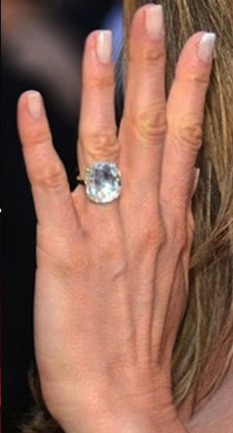 see our pick of the most stunning famous oval cut engagement rings worn by celebrities including blake lively miranda kerr and jennifer aniston - Jennifer Aniston Wedding Ring