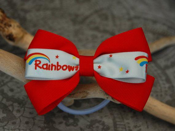 Rainbows Girl Guiding Hair Bow Handmade By by HandmadeByThilde, £2.00