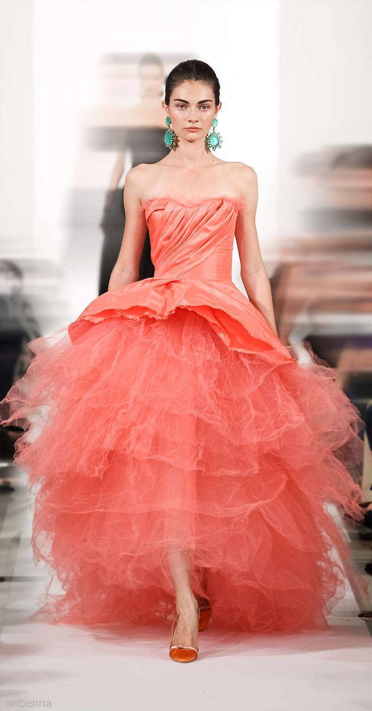 Oscar de la Renta 2014: Fashion Dresses, Couture Gowns, Oscar De La Renta Gowns, Dresses Orange, Oscar Dresses, Bridal Gowns
