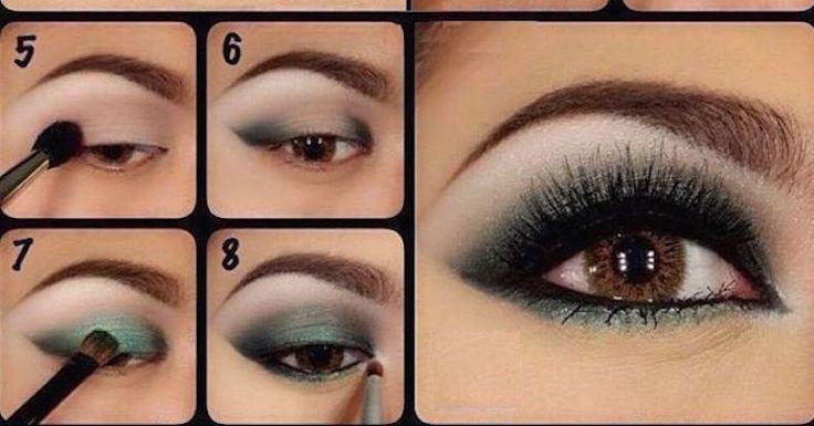 M s de 25 ideas incre bles sobre sombra de ojos verde en pinterest maquillaje verde - Ojos ahumados para principiantes ...