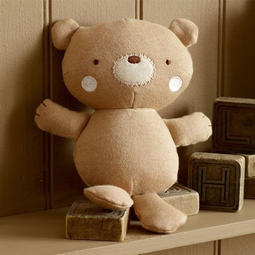 Purest Teddy and Ele Teddy Rattle. From Harvey Norman Online.