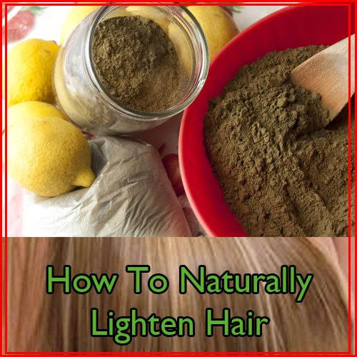 Natural Ways To Lighten Hair